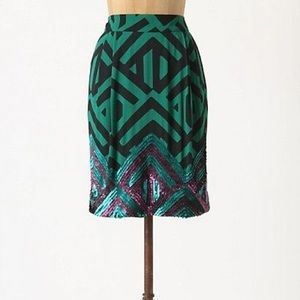 Anthro sequin skirt